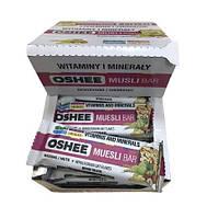 Упаковка злакових батончиків oshee родзинки-горіхи 40 грам * 25 шт #S/H