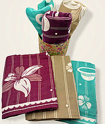 Коврик полотенце  для пляжа и купания из льна 70х140