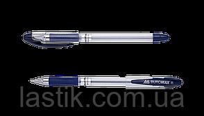 ^Ручка масляная MaxOFFICE 07 мм рез грип пласт корпус синие чернила
