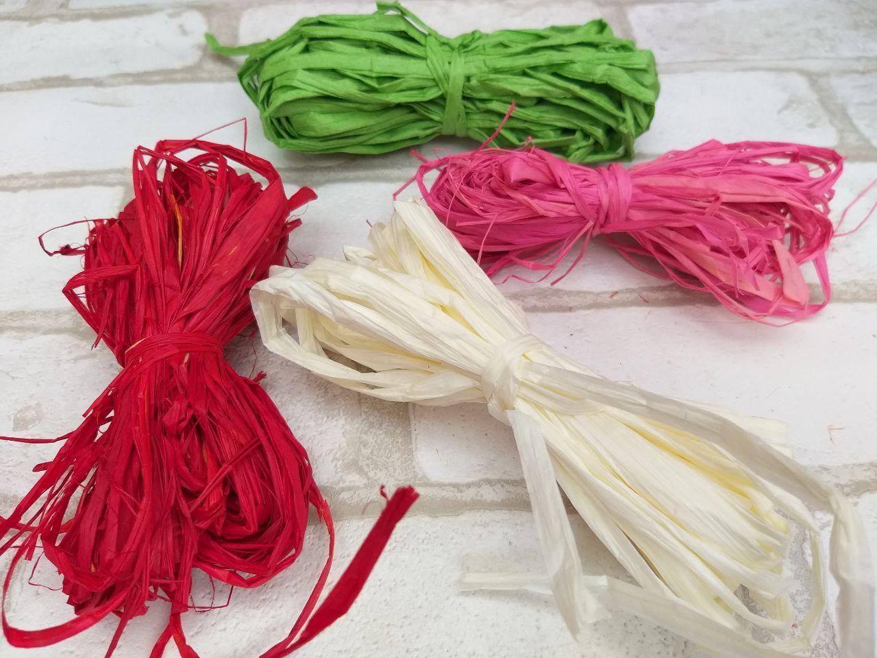 Рафия цветная в намотке,  разные цвета 15 гр 10 грн