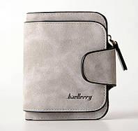 Замшевый женский кошелек Baellerry Forever Mini, клатч, портмоне, клатч женский, серого цвета