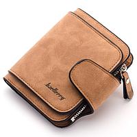 Замшевый женский кошелек Baellerry Forever Mini, клатч, портмоне, клатч женский, коричневый