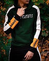 Спортивный костюм мужской Banger утепленный зеленый | Комплект Худи + Штаны зимний Премиум качества, фото 1