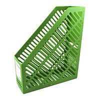 Лоток для бумаг  вертикальный 250*85*295 зеленый KL0916