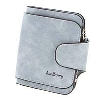 Замшевый женский кошелек Baellerry Forever Mini, клатч, портмоне, клатч женский, голубой