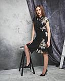 Нарядное расклешенное платье с паетками, фото 4