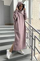 Платье-худи с начесом в четырех цветах