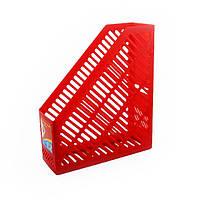 Лоток для бумаг  вертикальный 250*85*295 красный KL0916