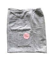 Мужская юбка для бани linda erkek gri m/l серый #S/H