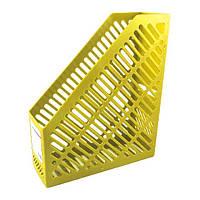 Лоток для бумаг  вертикальный 250*85*295 желтый KL0916