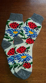 Носки чоловічі та жіночі із натуральної шерсті, пояси із шерсті