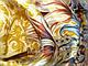 Шерстяной платок Дары востока, горчичный, фото 3
