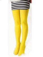 Яркие желтые колготы для девочки на рост 90-165