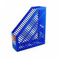 Лоток для бумаг  вертикальный 250*85*295 синий KL0916