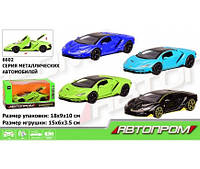 "Машина металл 6602 ""АВТОПРОМ"" 1:32 , 4 цвета, батар.,свет,звук,откр.двери,в кор. 18*9*10см(Маш 6602)"