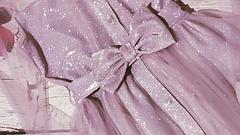 Платье детское розового цвета из ткани люрекс размеры 128-152, фото 3