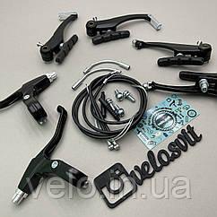 Комплект тормозов v-brake на велосипед полный (перед и зад)