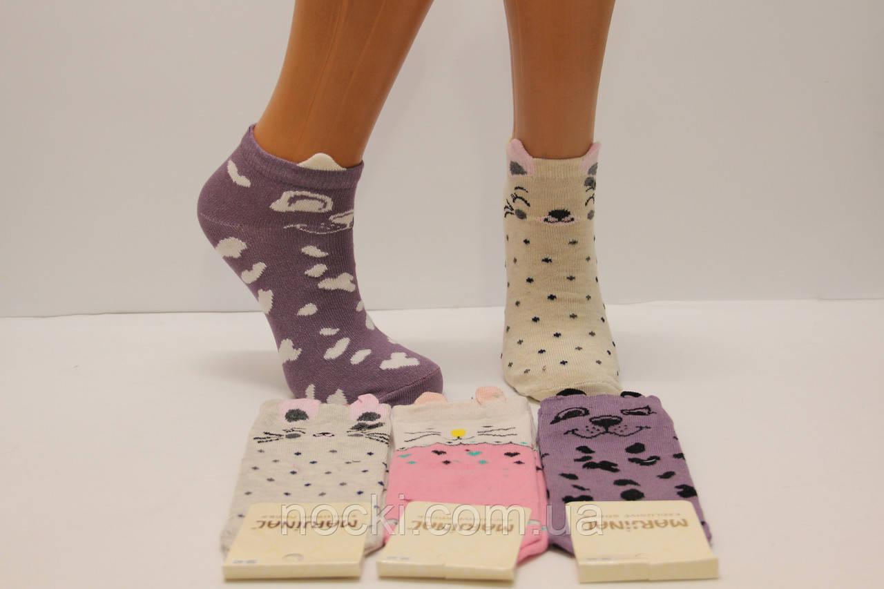 Жіночі короткі шкарпетки з бавовни 3D МАРЖІНАЛ м-5