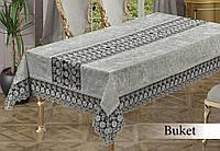 Скатерть велюровая прямоугольная Buket 160х220 (TM Zeron) Cri, Турция