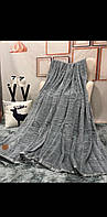 Плед -покрывало шиншилла 220х240 серый
