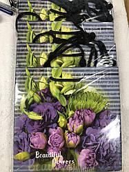 Подарунковий паперовий пакет ЧАШКА 16*16*8 см Фіолет
