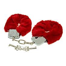 Наручники  плюшевые с 2 ключами Max Fuchs Red