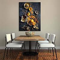 Картина на холсте Orange 45 см на 60 см ручная работа сосновый подрамник