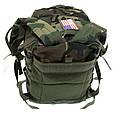 Рюкзак тактичний 40 літрів Assault II Woodland, Max Fuchs 30343T, фото 8