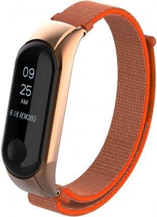 Сменный ремешок для фитнес трекера Xiaomi Mi Band 3/4 Nylon Design Orange
