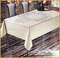 Скатерть тефлоновая прямоугольная Maison Royale Esila 160х220 Beyaz, Турция