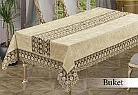 Скатерть прямоугольная BUKET 160х300 CAPUCCINO, Турция