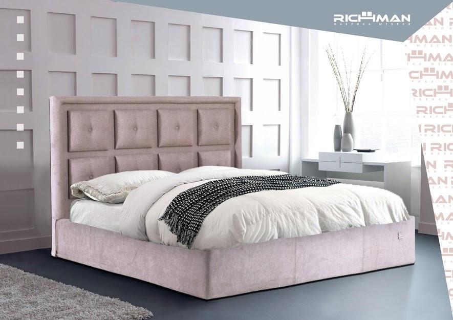 Двуспальная кровать с мягким изголовьем Виндзор ТМ Richman