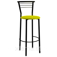 Стул барный Марко Хокер black кожзам желтый для кухни, бара, летней площадки