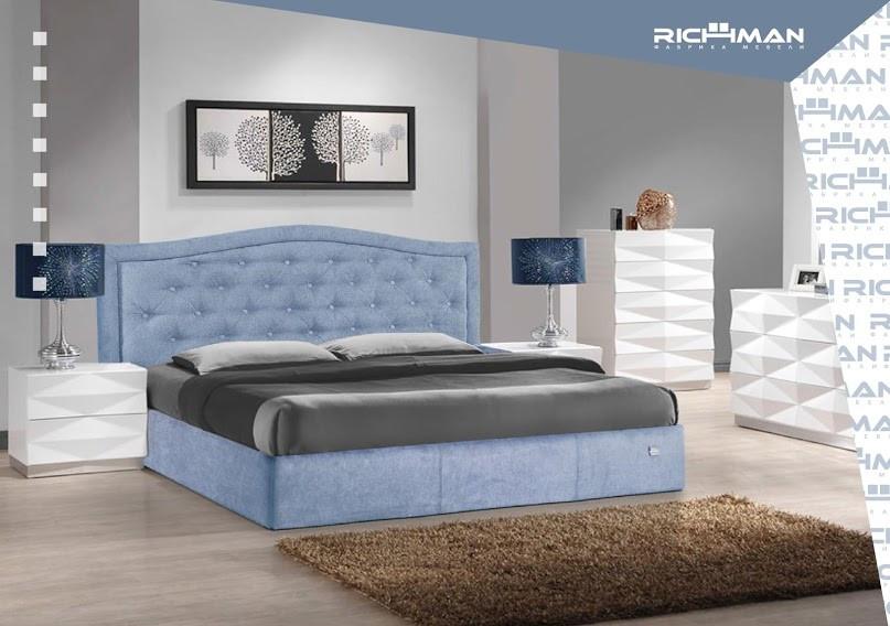 Двуспальная кровать с мягким изголовьем Скарлетт ТМ Richman