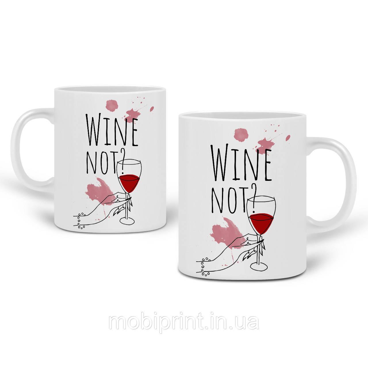 Кружка Вино (Wine not?) 330 мл Чашка Керамічна (20259-2615)