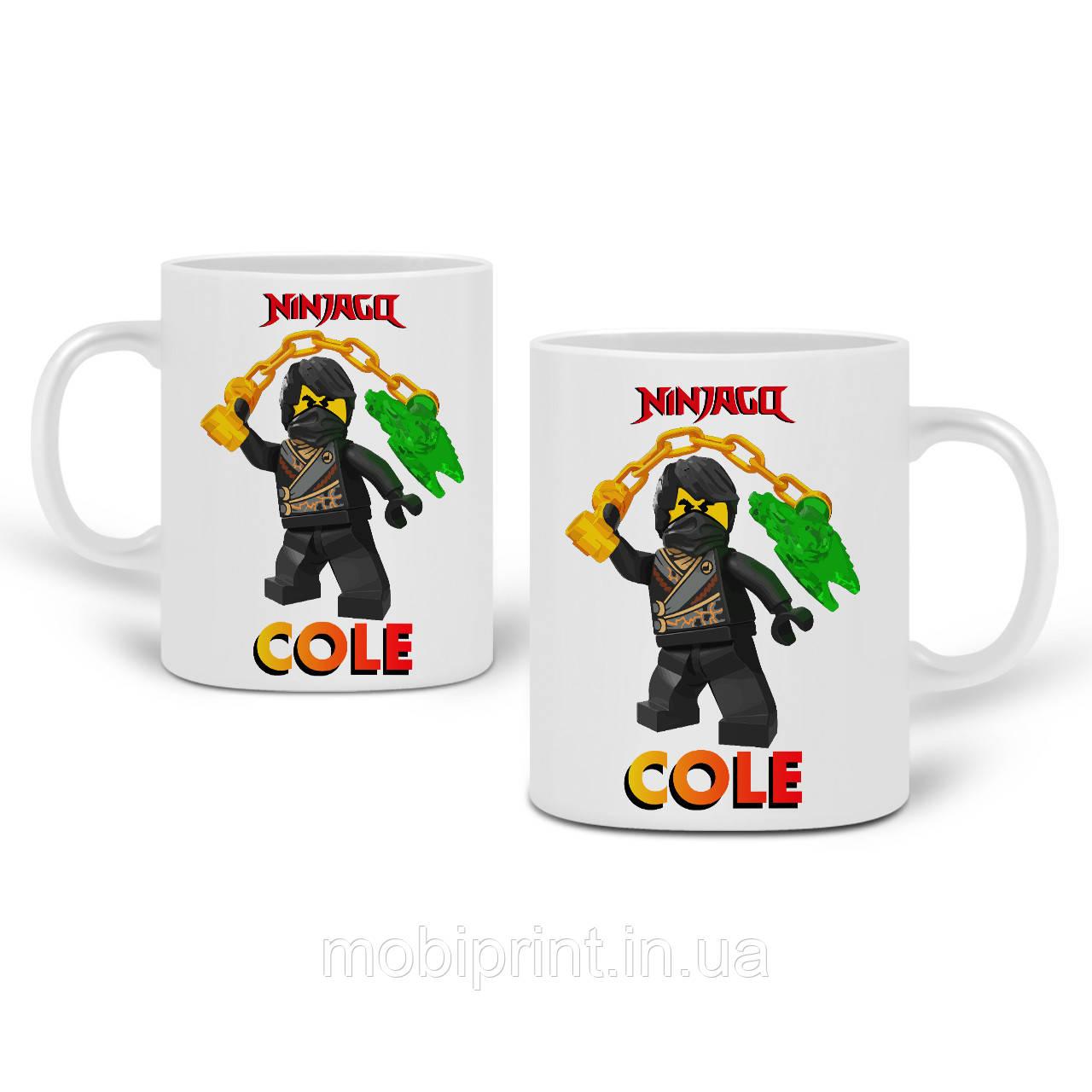 Кружка Коул Лего Ниндзяго (Cole LEGO Ninjago Masters of Spinjitzu) 330 мл Чашка Керамическая (20259-2640)