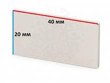 Постоянный неодимовый магнит прямоугольник 40х20х2 мм сила 10 кг Польша