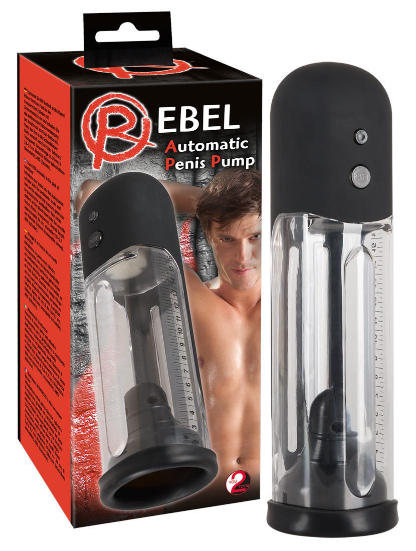 Мужская помпа - Automatic Penis Pump, ПРОЗРАЧНАЯ