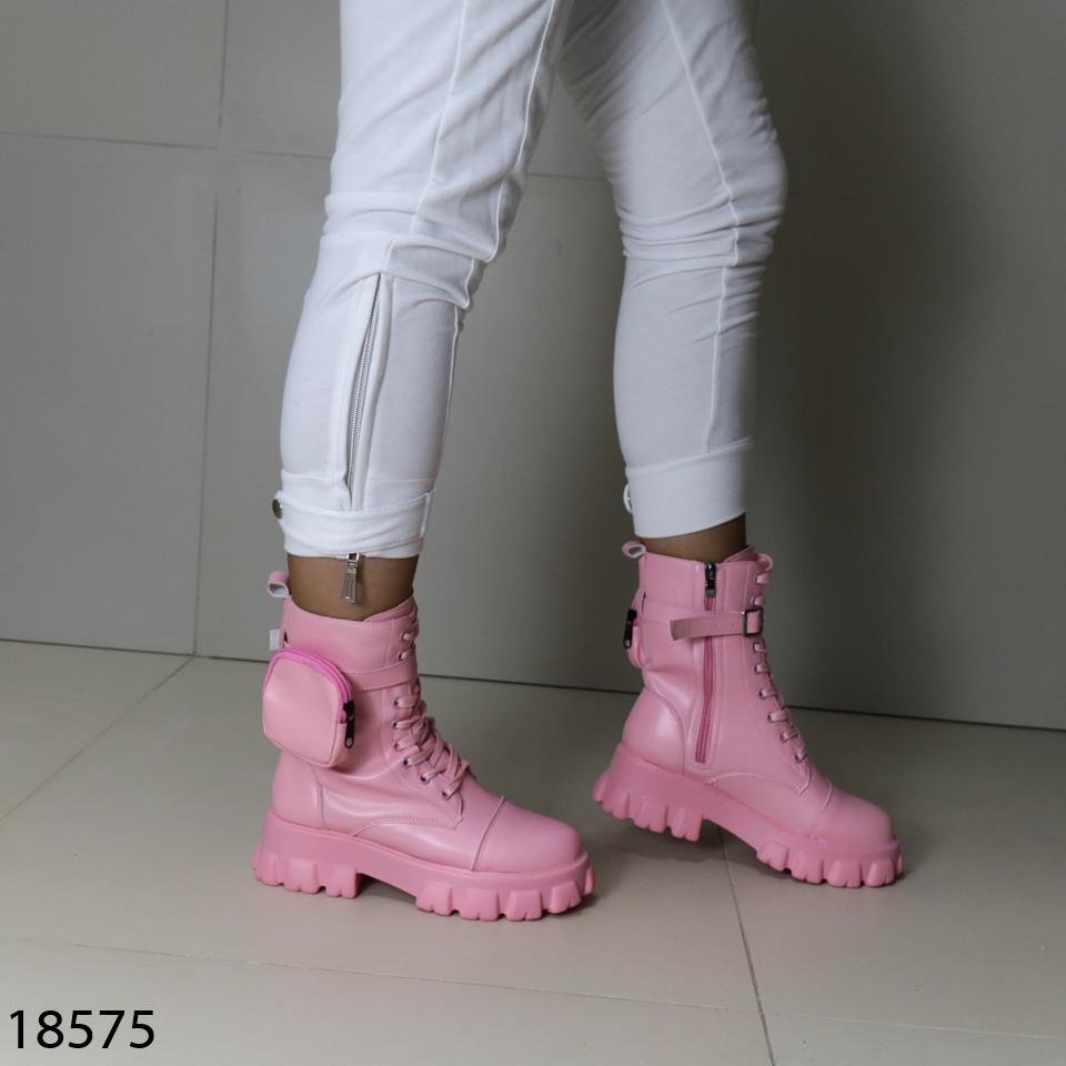 Кожаные демисезонные ботинки 18575 (SH)