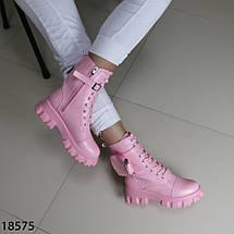 Кожаные демисезонные ботинки 18575 (SH), фото 2