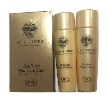 Подарунковий набір тонера і емульсії Ottie Prestige Gold Miniature Set (Tonic & Moisturizer) 2х30 мл