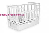 Дитяче ліжко TRANSFORMER з ящиком білого кольору