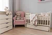 Дитяче ліжко TRANSFORMER з ящиком натурального кольору