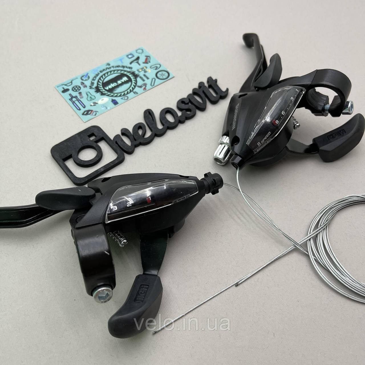 Моноблоки для велосипеда suangin, подходят к shimano, манетки 3*8