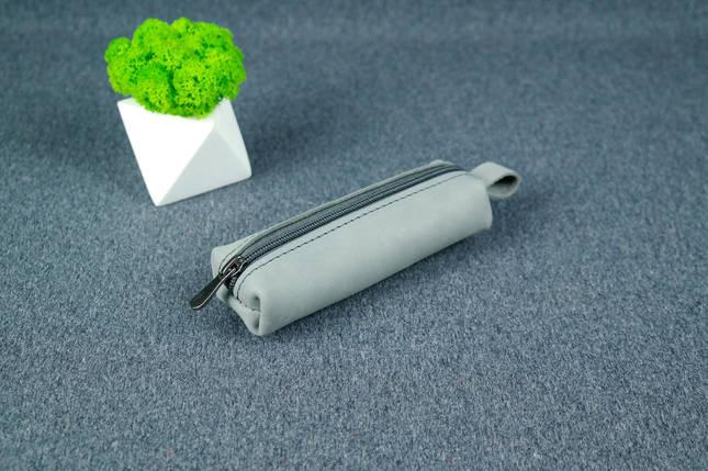 Ключниця на блискавці, Вінтажна шкіра, колір Сірий, фото 2