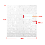 Самоклеющаяся декоративная стеновая 3D панель бежевый ромб 700x700x7мм, фото 6