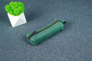 Ключница на молнии, Винтажная кожа, цвет Зеленый, оттиск №4