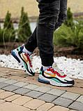 Кросівки чоловічі Nіke Air Max 270 React в стилі найк аір макс сірі (Репліка ААА+), фото 7
