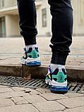 Кросівки чоловічі Nіke Air Max 270 React в стилі найк аір макс сірі (Репліка ААА+), фото 6