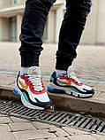 Кросівки чоловічі Nіke Air Max 270 React в стилі найк аір макс сірі (Репліка ААА+), фото 5